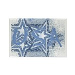 Cool Blue USA Rectangle Magnet