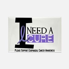 I Need A Cure ESOPHAGEAL CANCER Rectangle Magnet