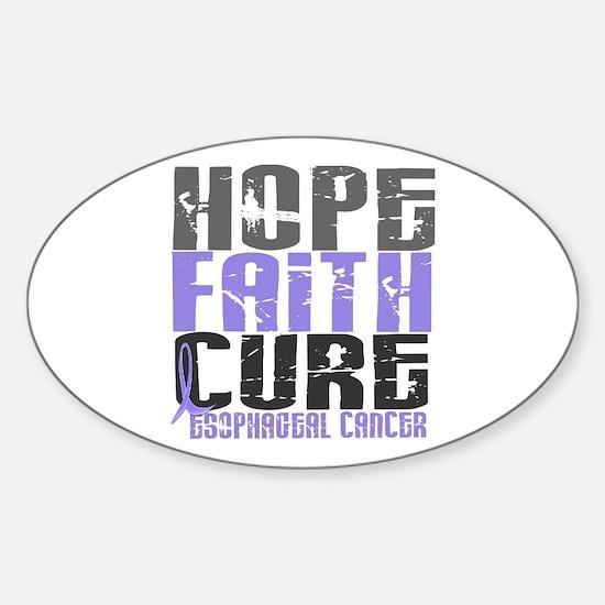 HOPE FAITH CURE Esophageal Cancer Oval Decal