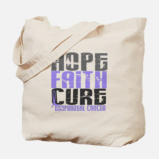 HOPE FAITH CURE Esophageal Cancer Tote Bag
