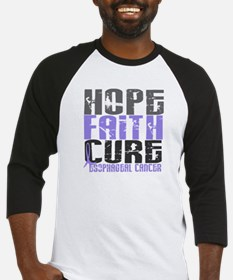 HOPE FAITH CURE Esophageal Cancer Baseball Jersey