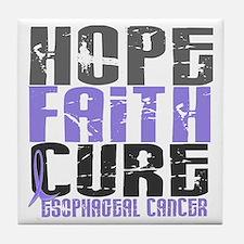 HOPE FAITH CURE Esophageal Cancer Tile Coaster