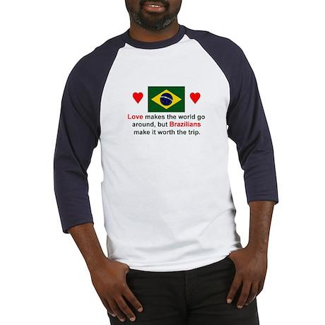 Love Brazilians Baseball Jersey