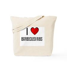 I LOVE BARBECUED RIBS Tote Bag