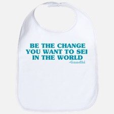 Be The Change You Want Bib