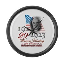 29th President - Large Wall Clock