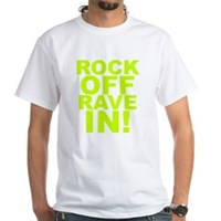 Rock Off Rave In White T-Shirt