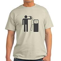 Petrol Gun To The Head Light T-Shirt