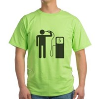 Petrol Gun To The Head Green T-Shirt
