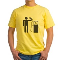 Petrol Gun To The Head Yellow T-Shirt