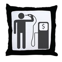 Petrol Gun To The Head Throw Pillow
