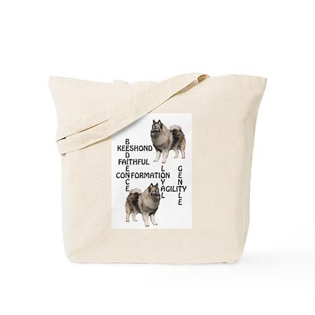keeshond crossword Tote Bag