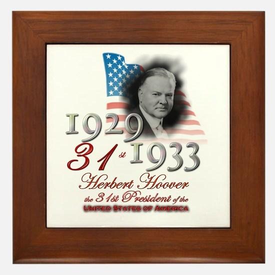 31st President - Framed Tile