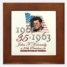 35th President - Framed Tile