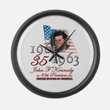 35th President - Large Wall Clock