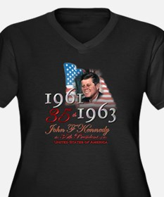35th President - Women's Plus Size V-Neck Dark T-S