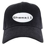 Shemail Black Cap - Shemail email for the feminine geek/nerd/neek. Are you a computer genius, or brilliant creative? Shemail your email from UranusCafe.com