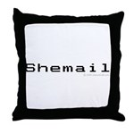 Shemail Throw Pillow - Shemail email for the feminine geek/nerd/neek. Are you a computer genius, or brilliant creative? Shemail your email from UranusCafe.com - Availble Sizes:Cover + Insert,Cover Only