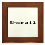 Shemail Framed Tile - Shemail email for the feminine geek/nerd/neek. Are you a computer genius, or brilliant creative? Shemail your email from UranusCafe.com