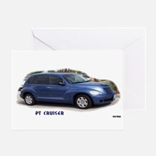 BLUE PT CRUISER Greeting Card