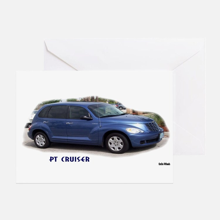 BLUE PT CRUISER Greeting Card