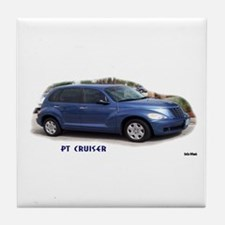 BLUE PT CRUISER Tile Coaster