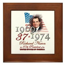 37th President - Framed Tile
