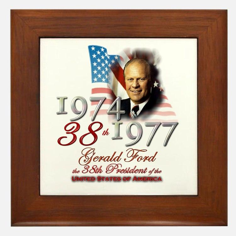 38th President - Framed Tile