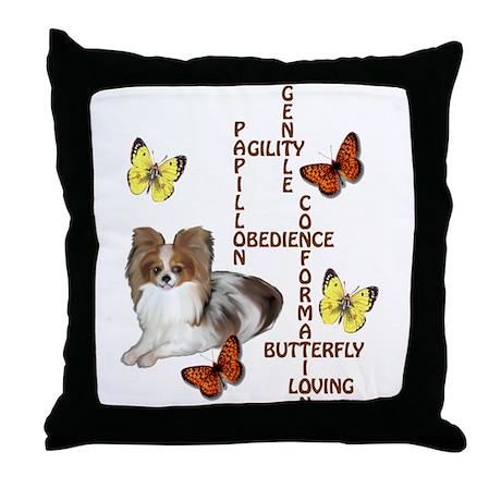 papillon crossword puzzle Throw Pillow