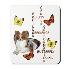 papillon crossword puzzle Mousepad