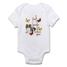 papillon crossword puzzle Infant Bodysuit