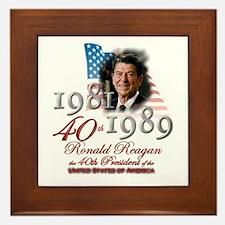 40th President - Framed Tile