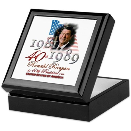 40th President - Keepsake Box