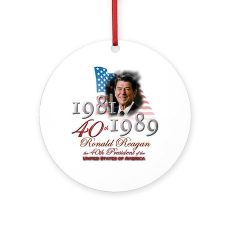 40th President - Ornament (Round)