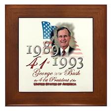 41st President - Framed Tile