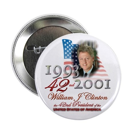 """42nd President - 2.25"""" Button (100 pack)"""