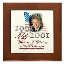 42nd President - Framed Tile
