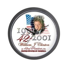 42nd President - Wall Clock