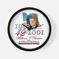 42nd President - Wall Clock