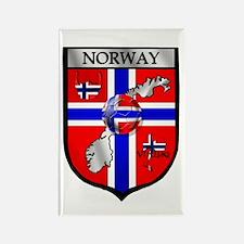 Norge Norwegian Soccer Shield Rectangle Magnet