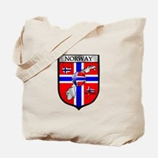 Norge Norwegian Soccer Shield Tote Bag
