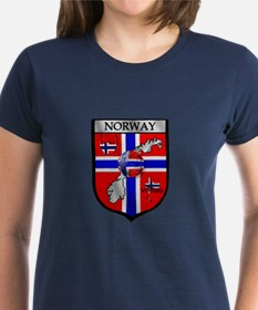 Norge Norwegian Soccer Shield Tee