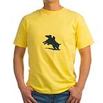 Blue Dachshund Yellow T-Shirt