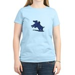 Blue Dachshund Women's Light T-Shirt