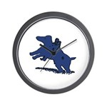 Blue Dachshund Wall Clock