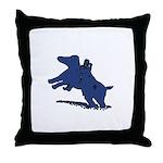 Blue Dachshund Throw Pillow