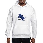 Blue Dachshund Hooded Sweatshirt