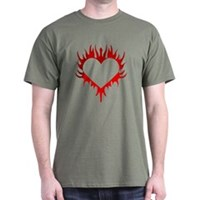 Flaming Heart Dark T-Shirt