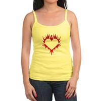 Flaming Heart Jr. Spaghetti Tank