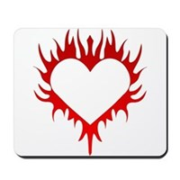 Flaming Heart Mousepad